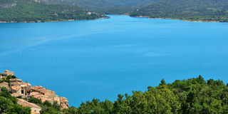 Sainte Croix du Verdon. Beautiful Medieval Village Sainte Croix du Verdon on the lake shore, Provence, France Royalty Free Stock Photography