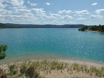 Sainte croix du verdon lake, provence royalty free stock photography
