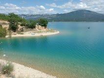 Sainte croix du verdon lake, provence Royalty Free Stock Photo
