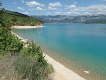 Sainte croix du verdon lake, provence royalty free stock photos