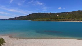 Sainte-Croix lake in Provence stock footage