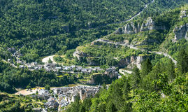 Sainte-Enimie, desfiladeiros du Tarn Fotos de Stock Royalty Free