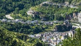 Sainte-Enimie, gargantas du el Tarn Imagenes de archivo