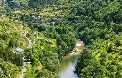 Sainte-Enimie, gargantas du el Tarn Fotos de archivo