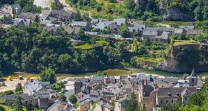 Sainte-Enimie, gargantas du el Tarn Fotografía de archivo
