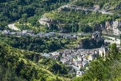 Sainte-Enimie, gargantas du el Tarn Foto de archivo libre de regalías