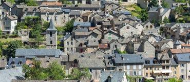 Sainte-Enimie, gole du il Tarn Immagini Stock Libere da Diritti