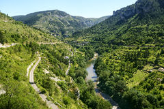 Sainte-Enimie, Gorges du Tarn Stock Photography
