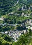 Sainte-Enimie, Kloven du de Tarn Royalty-vrije Stock Foto