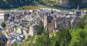 Sainte-Enimie klyftor du Tarn Arkivbilder