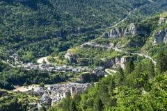 Sainte-Enimie klyftor du Tarn Royaltyfri Fotografi