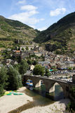 Sainte-Enimie village. Scenic view of Sainte-Enimie village in Gorges du Tarn, Lozere department, France Stock Photo