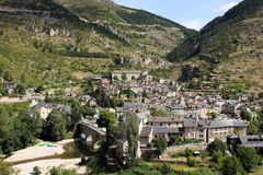 Sainte-Enimie village. Scenic view of Sainte-Enimie village in Gorges du Tarn, Lozere department, France Stock Photos