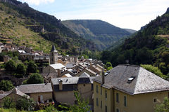 Sainte-Enimie village. Scenic view of Sainte-Enimie village in Gorges du Tarn, Lozere department, France Royalty Free Stock Image
