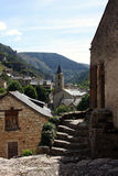 Sainte-Enimie village. Scenic view of Sainte-Enimie village in Gorges du Tarn, Lozere department, France Stock Image