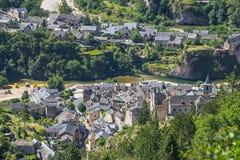 Sainte-Enimie, wąwozy du Tarn Fotografia Stock