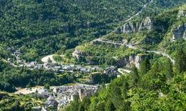 Sainte-Enimie, wąwozy du Tarn Zdjęcia Royalty Free