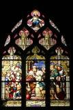 Sainte-Geneviève давая визирование к его матери в присутствии к Свят-Марселю, Стоковая Фотография