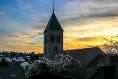 Sainte Lucie Church, Vallières, Metz, Lothringen, Frankreich Lizenzfreie Stockfotografie