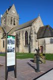 Sainte-Mère-à ‰ glise教会 免版税库存图片