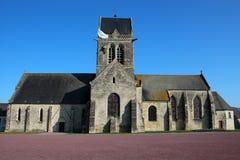 Sainte-Mère-à ‰ glise教会 库存照片