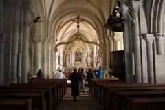Sainte-Mère-à ‰ glise教会 免版税图库摄影