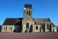 Sainte-Mère-É glise Kirche Stockfotos
