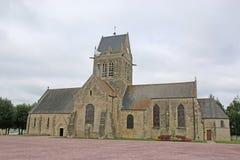 Sainte-Mère-Église church, France Royalty Free Stock Image