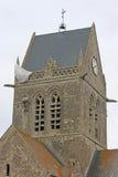 Sainte-Mère-Église church, France Stock Images