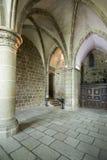 Sainte Madeleine Chapel en Mont Saint Michel Abbey, Francia Imágenes de archivo libres de regalías