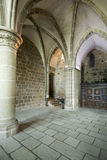 Sainte Madeleine Chapel på Mont Saint Michel Abbey, Frankrike Royaltyfria Bilder
