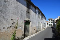 Sainte Maria De Ponowny Francja, Wrzesień, - 25 2016: malowniczy vil Zdjęcie Royalty Free