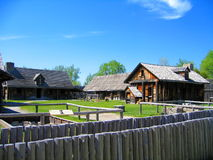 Sainte Marie bland Huronsna, central landsdel, Ontario arkivfoton
