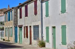 Sainte Marie de Re, Francia - 25 de septiembre de 2016: vil pintoresco foto de archivo libre de regalías