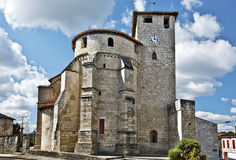 Sainte-Marie de Roquefort Church in Landes Stock Photo