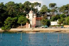 Sainte-Marie du Lock Kapell i Bassin d'Arcachon Royaltyfria Bilder