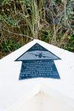 Sainte-Marie-du-Mont, aviateurs Groupe Lorrain da chapa da praia de Utá Fotografia de Stock