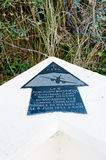 Sainte-Marie-du-Mont, Utah Beach plaque aviateurs Groupe Lorrain stock photography