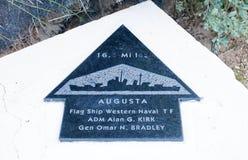 Sainte-Marie-du-Mont, Utah Beach plaque Flag Ship Western Naval Stock Images