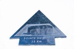 Sainte-Marie-du-Mont, Utah Beach plaque plaque Pointe Du Hoc Stock Photos