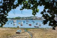 Sainte-mariene haven in Bretagne, Frankrijk stock foto's