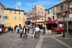 Sainte Maxime, France - april 16 2016 : the picturesque city Royalty Free Stock Images