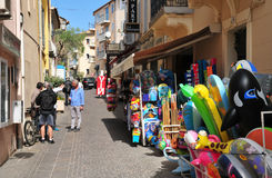 Sainte Maxime, France - april 16 2016 : the picturesque city Royalty Free Stock Photos