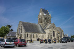 Sainte Mere Eglise Church Royalty Free Stock Images