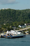 Ferry docking at Sainte-Rose-du-Nord, Quebec Stock Photography
