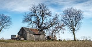 Old Barn in Laval Quebec Stock Image