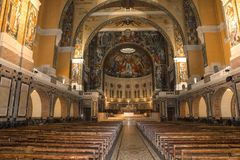 Sainte-Therese basilica, Lisieux, France Stock Photo