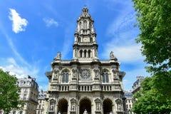 Sainte-Trinitekirche - Paris, Frankreich Lizenzfreies Stockfoto