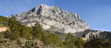 Sainte Victoire. The Sainte Victoire mount near Aix en provence. France Stock Image