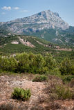 Sainte-Victoire - góra w Provence, Francja Obraz Stock